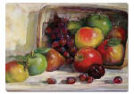 An Apple Cascading Fruit Glass 15x12  Cuttingboard