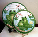 Frog Ceramic 4 Burner Covers set