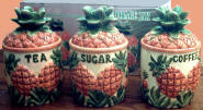 `A Tropical Pineapple Storage jar Ceramic Canister Set