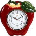 Wallclock - Ceramic Big Red Apple