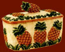 ~ Ceramic Tropical Pineapple Breadbox