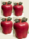 Big Red Apple Kitchen Canisters
