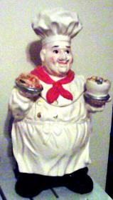 * Italian Fat Chef Ceramic Cookie jar-