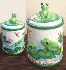 Frog Ceramic Cookie Jar