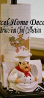 Ceramic White Chef Kitchen Paper Towel Napkin Holder