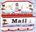 A Lighthouse Nautical Coastal Beach Mail Key holder