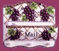 Grape Ceramic mail holder