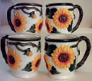 Ceramic Coffee Mugs - Sunflower
