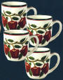 * Ceramic 4pc Coffee/Tea mug set - New Apple