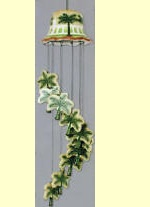 Ceramic Wind Chime Palm Tree Tropical windchimes