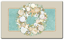 Anti Fatigue Floor Mat Coastal Wreath