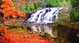 Moving Picture Autum Waterfall -SML