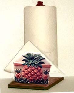 A Tropical Pineapple Paper Towel holder Ceramic Napkin Holder