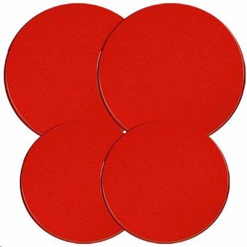 `Round Solid Red Round  Metal Burner Covers