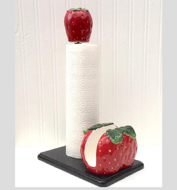 Strawberry Kitchen Decor Theme Ceramics Country