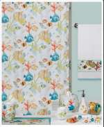 Fish Theme Scenic Fabric Shower Curtain-Rainbow