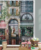 A Scenic Paris Caf? Fabric Shower Curtain Rue Di Rivoli
