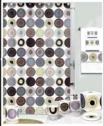 Swirl - Cabin/Lodge Earthtone Fabric Shower Curtain