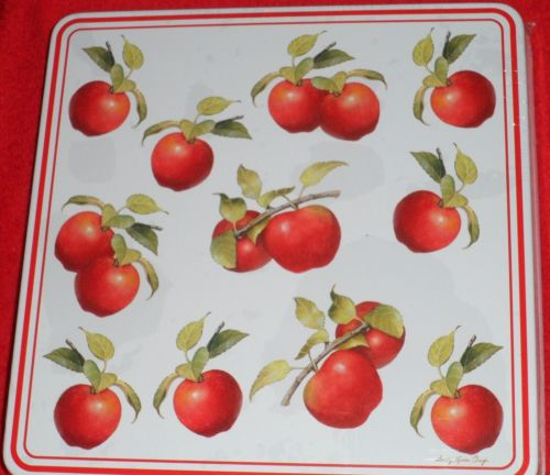 Apple Country Harvest Square Stove Burner Covers