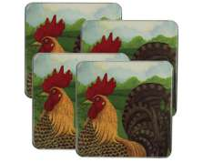 ~ Roosters-square-  Metal Burner Covers