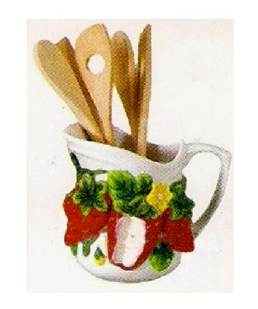 ~Pitcher/Utensil Holder - Strawberry