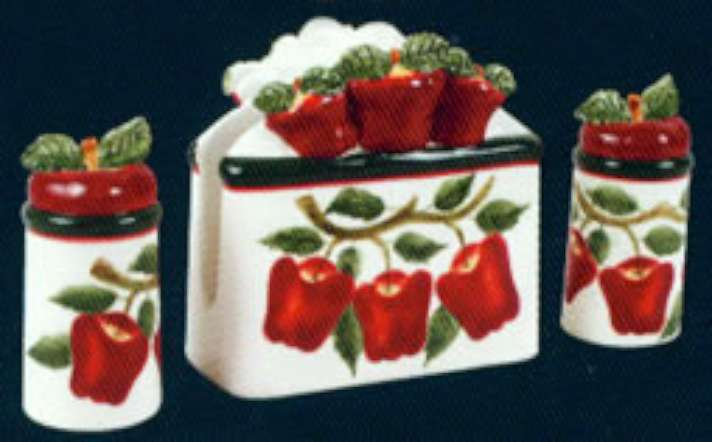Apple Kitchen Decor Theme Country Apple Ceramic Canisters Cookie
