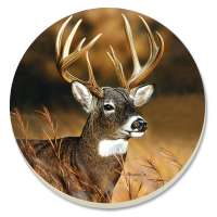 * 8 Coasters Buck Stops Here Cabin/Lodge/Deer