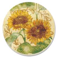 * Reflections of Sun Sunflower 8 Coasters