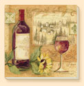 * Wine & Sunflower  Coaster Set of 8