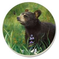 * Black Bear Lodge/Cabin/Wildlife Coaster Set of 8