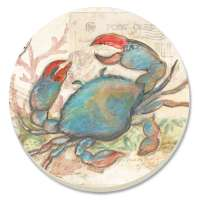 *A Seaside Blue Crab Coastal/Beach Coaster Set of 8