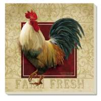 * Farm Fresh Rooster Coaster Set of 8