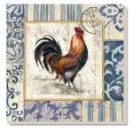 French Rooster  Coaster Set of 8