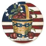 *Patriotic Apple Basket Americana 8 Coasters