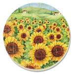 Field Sunflower Floral Coaster Set of 8