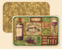 A Wine/Grape Plastic Placemat Set Grand Vin