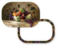 * American Bounty Fruit Grape-Apple-Pear 4  Placemats