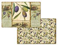 An Olive Theme Placemat Set - Olio Italia