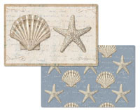 Seashell Beach 4 Plastic Placemats Coastal Beauty