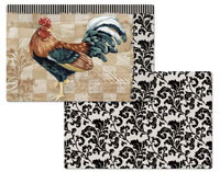 4 Bergerac Rooster Vinyl-Plastic Placemats CLEARANCE