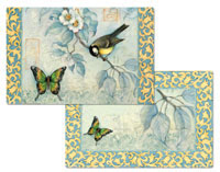 Bluebirds Wipe-clean 4 Vinyl-PlasticPlacemats