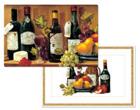 A Fruit And Wine Grape 4 Vinyl-PlasticPlacemats
