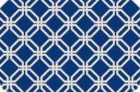 4 Frosted Translucent Plastic Placemats Blue and White Lattice