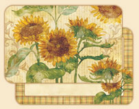 A Reflections of Sunflowers  4 Vinyl/Plastic Placemats