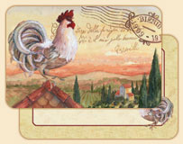 * Rooftop Rooster Wipe-clean Vinyl-Plastic Placemats