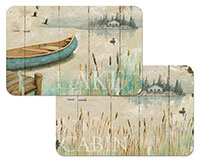 A Placemat Set-4-Vinyl-Plastic Lakeside