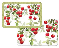 Plastic Placemat Red Fruit Theme Julies Cherries