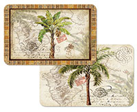 A West Indies Tropical Palm Trees 4 Plastic Placemats