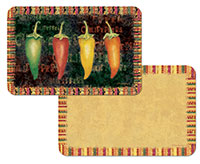 A Hot Spicy Chili Peppers 4 Plastic Placemats