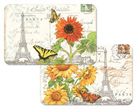 A Sunflower Postcard Wipe-clean 4 Plastic Placemats
